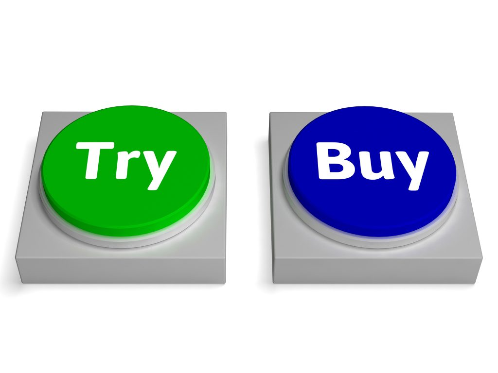 Try Buy Buttons Showing Trying Or Buying