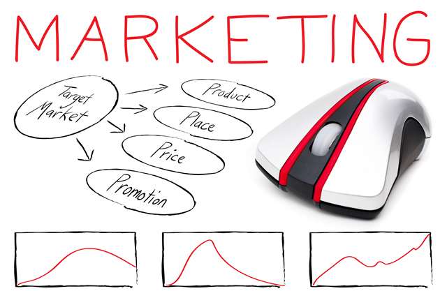 marketing montage illustrating the basics of target marketing with a computer mouse isolated over white BYW KvABj - Marketing as a Marketer