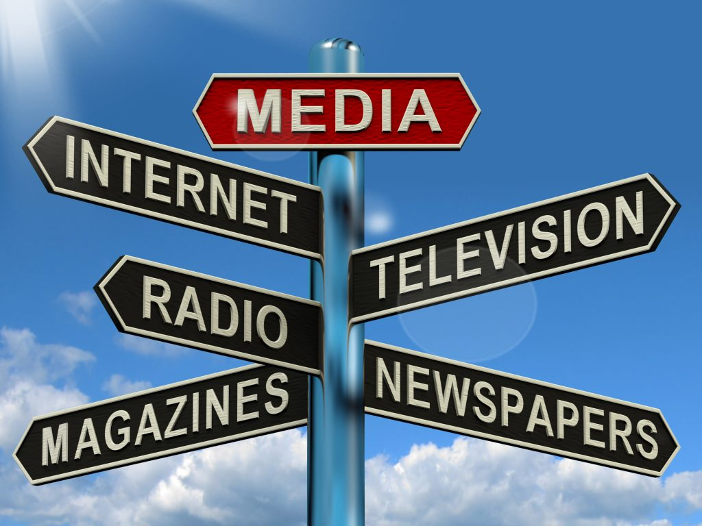 media signpost showing internet television newspapers magazines and radio M1GfCMwO 1024x768 - Network Marketing Business